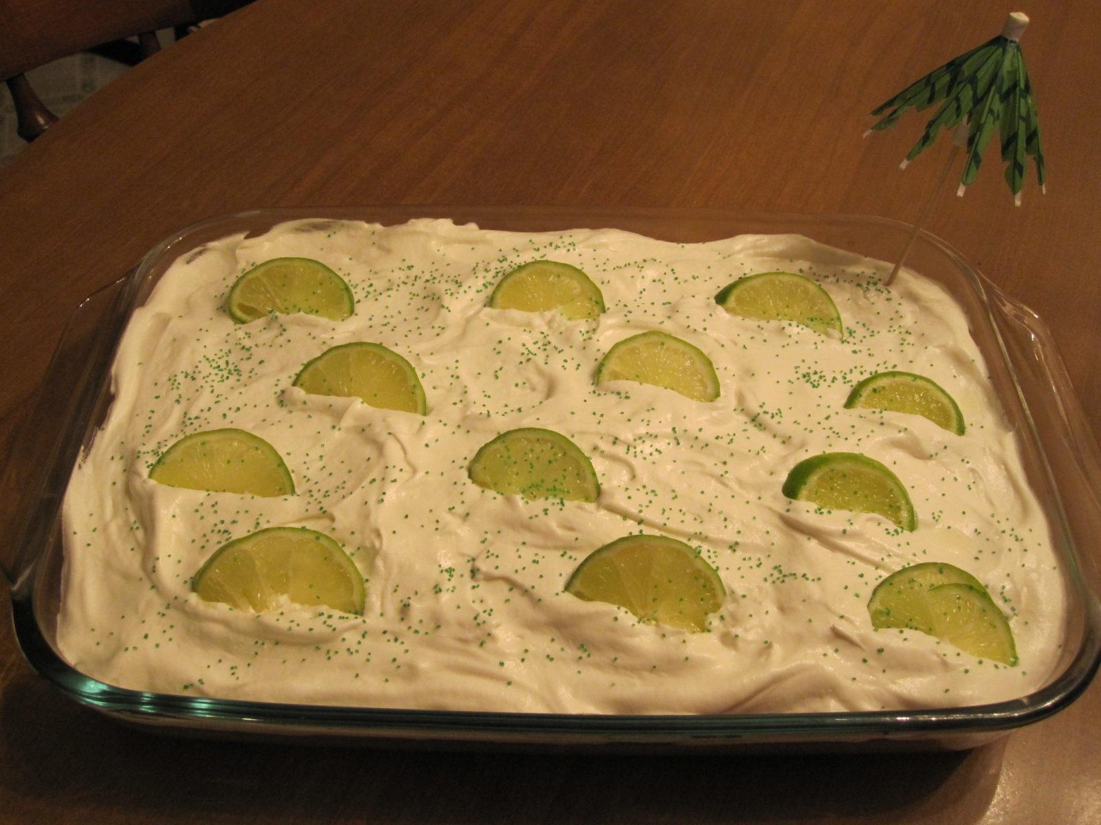 Margarita Cake (inspired by this Betty Crocker recipe)
