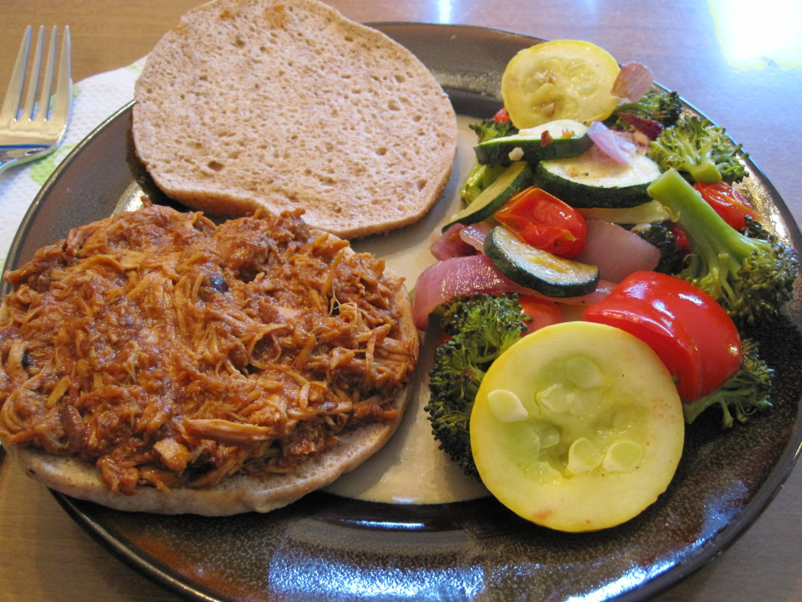 Slow Cooker BBQ Pulled Chicken & A Sweet Treat - Sweet Tooth Sweet ...