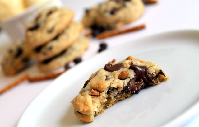 Pretzel and Ice Cream Chocolate Chip Cookies