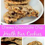 Chewy Chocolate Chip Heath Bar Cookies