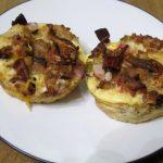 Mini Fiesta Mushroom & Sausage Quiches