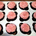 Raspberry Devil's Food Cupcake with Raspberry Almond Buttercream