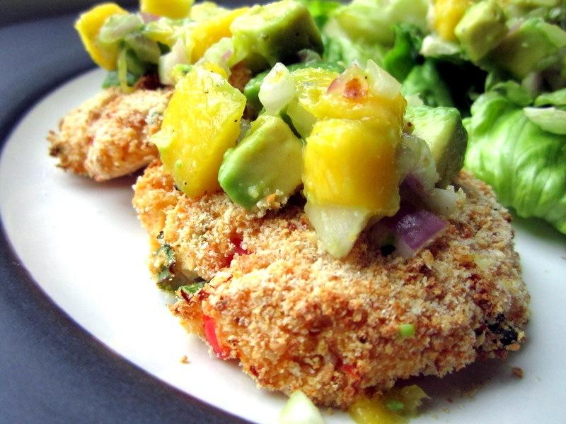 Crab Cakes with Avocado-Mango Salsa - Sweet Tooth Sweet Life