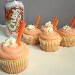Orange Cream Soda Pop Cupcakes