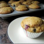 """Wouldn't Know They're Healthy"" Blueberry Muffins"