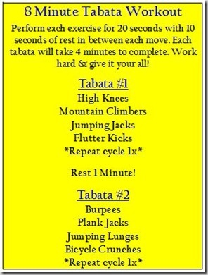 8 minute tabata