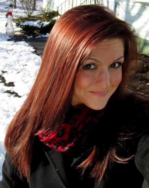 Cherry Cola Brown Hair Color With Highlights Red hair-do from saturday,