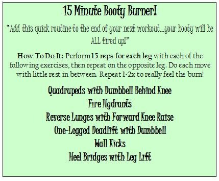 15 minute booty burner