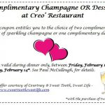 Creo' Restaurant Printable Coupon