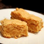 White Chocolate Peanut Butter Cake Batter Bars