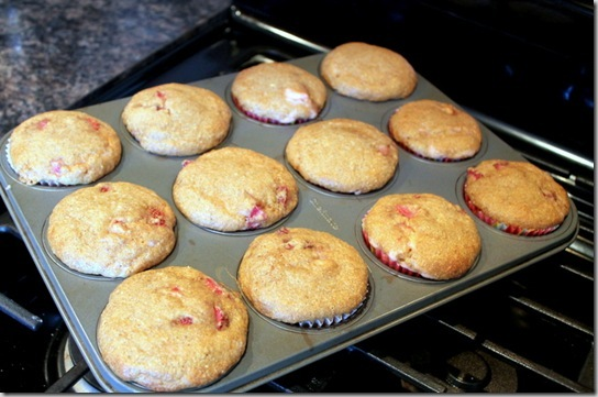 Double Strawberry Cream Cheese Filled Muffins