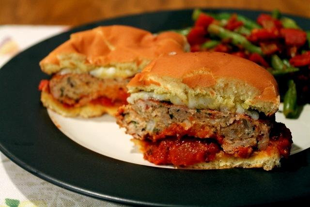 Healthy Chicken Parmesan Burgers