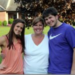 me, dan, and mom