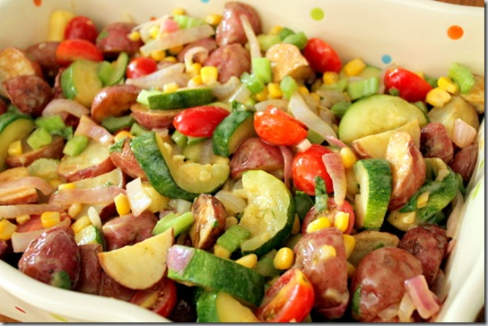 Roasted Potato & Veggie Salad