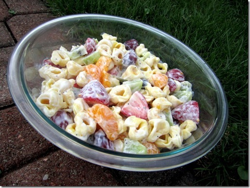 fruit and tortellini salad
