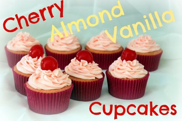 cherry almond vanilla cupcakes (2)