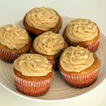 Zucchini Cupcakes with Creamy Caramel Frosting