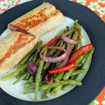 Roasted Green Beans and Steak Fajita Wraps