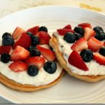 Mixed Berry Cheesecake Pancakes