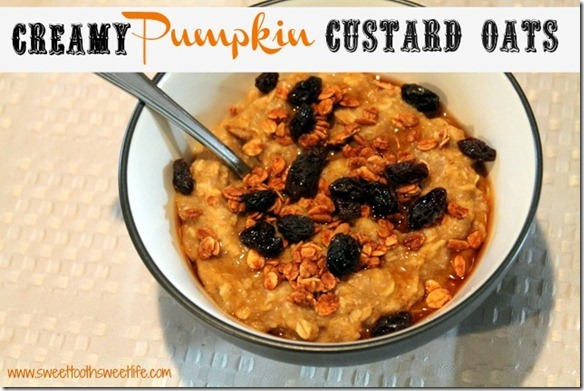 creamy pumpkin custard oats
