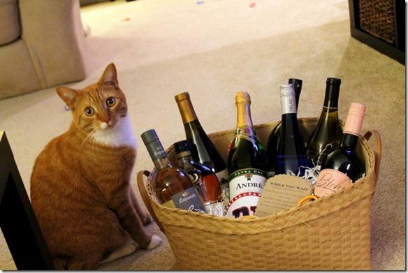 bridal shower wine basket gift
