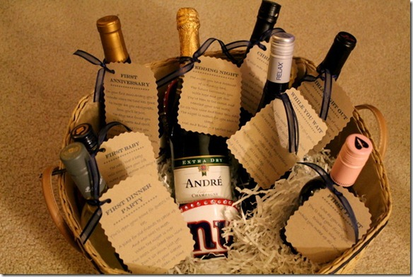 Wedding Gifts Wine: Bridal Shower Gift Idea: Wine Basket With Poems
