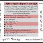 Active/Passive Superset Workout