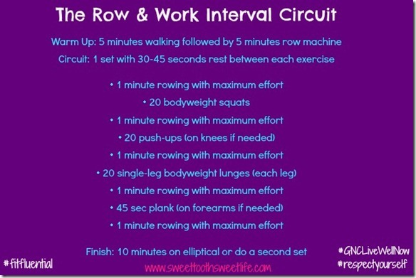 row & work interval circuit