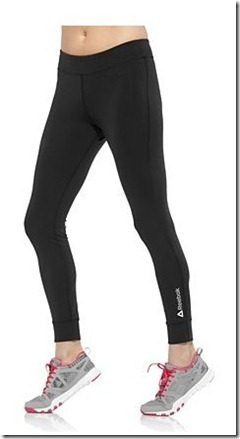 reebok fitted legging black