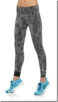 reebok fitted legging print