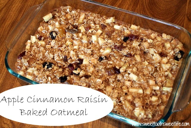 apple cinnamon raisin baked oatmeal