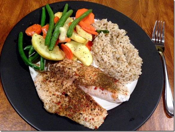 tilapia and veggies