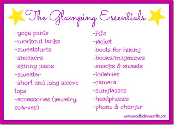 glamping essentials packing list