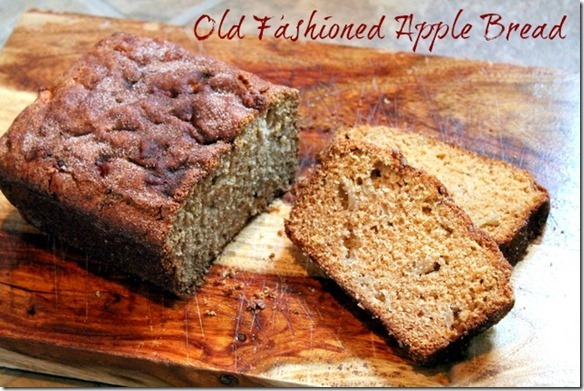 old fashioned apple bread