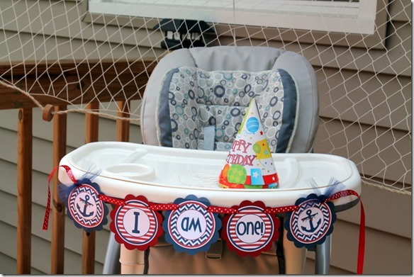 nautical first birthday decor