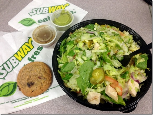 subway chopped salad