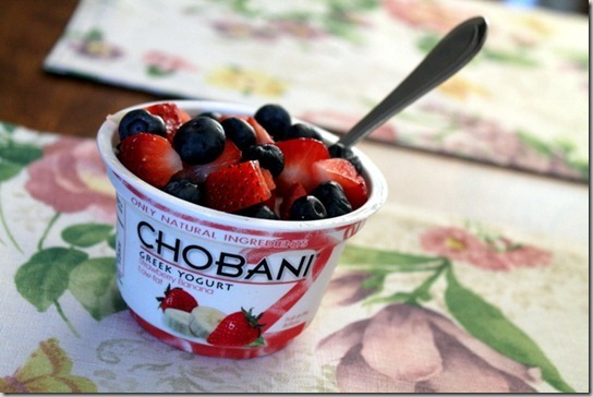 berries and yogurt