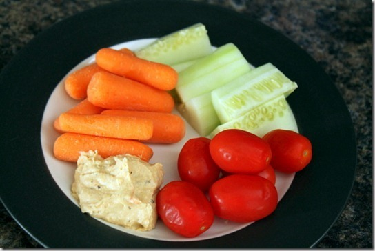veggies and hummus