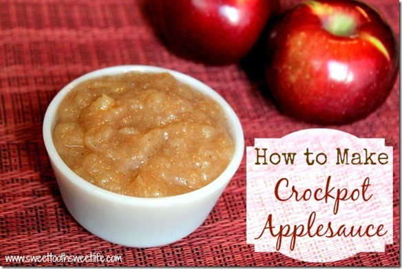 how to make crockpot applesauce