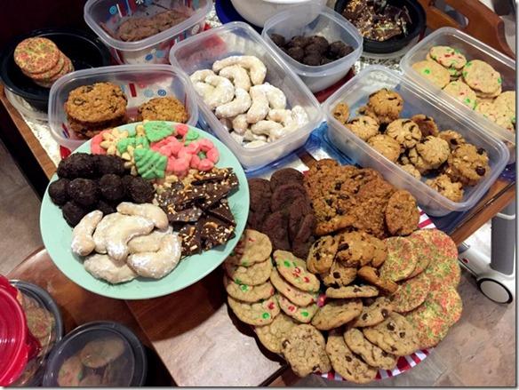 christmas cookie trays