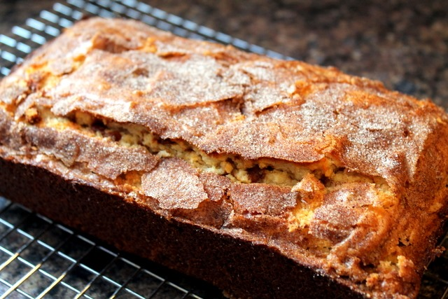 Cinnamon Chip Studded Snickerdoodle Bread