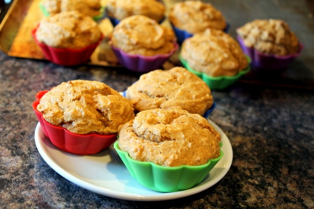 Whole Wheat Pumpkin Applesauce Muffins {Toddler Approved!}