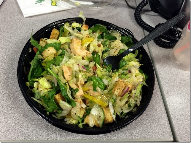 subway chicken chopped salad