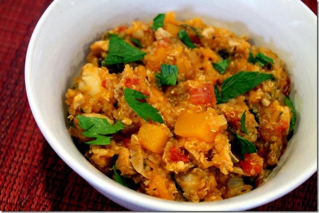 Chicken Quinoa and Butternut Squash Stew