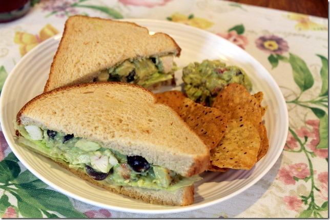 Chicken and Avocado Salad Sandwiches