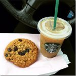 starbucks coffee and cookie