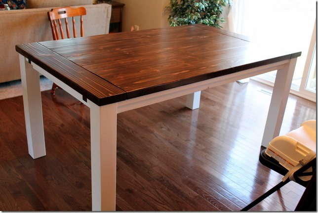 Dining Room Table Plans With Leaves diy farmhouse table with extension leaves (with plans!) - sweet