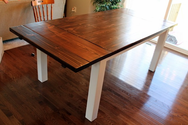 diy farmhouse table with extension leaves with plans sweet tooth