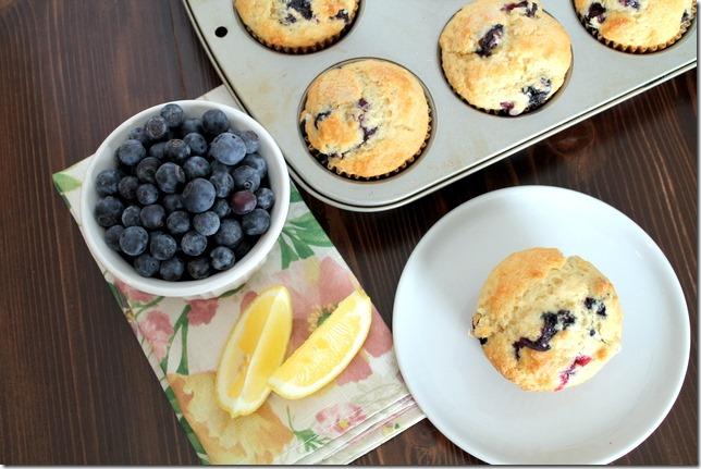 Triple Lemon Blueberry Muffins
