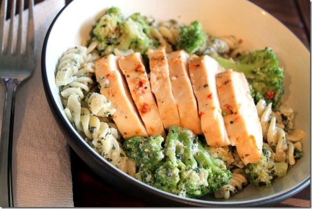Spaghetti With Broccoli Cream Pesto Recipe — Dishmaps